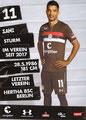 Sami Allagui; Rückseite Autogrammkarte: Saison 2018/19 (2. Bundesliga)