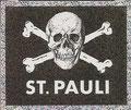 Sticker 3: Totenkopf: Serie ohne Namen; St. Pauli Sammeln! Panini Bilderdienst, Stuttgart