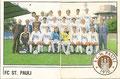 Sticker 339: Mannschaftsbild (links), Sticker 340: Mannschaftsbild (rechts); Fußball 87; Panini Bilderdienst, Tütenbilder, Planegg
