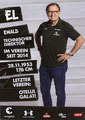Ewald Lienen; Rückseite Autogrammkarte: Saison 2018/19 (2. Bundesliga)