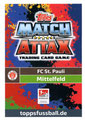 Trading Card 542: Rückseite Trading Card; Topps Match Attax Action 2018/2019; Topps