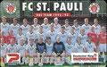 Vorderseite: FC St. Pauli Das Team: Kartennummer: 0 645 03.93 7.000 DPR, Auflage: 7000 Stück