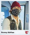 Sticker 8: Benny Adrion; #Team Hamburg; Juststickit / Panini