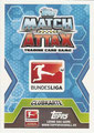 Trading Card 433: Rückseite Trading Card; Topps Match Attax Trading Card Game 2014/2015; Topps