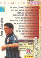 Trading Card 71: Rückseite Trading Card; Panini Premium Cards 95/96; Panini Bilderdienst, Nettetal, Kaldenkirchen