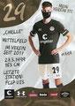 Christian Viet; Rückseite Autogrammkarte: Saison 2020/21 (2. Bundesliga) Variante 2: Rückseite: Schriftzug oben rechts: Mein Verein 111