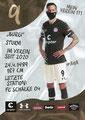 Guido Burgstaller; Rückseite Autogrammkarte: Saison 2020/21 (2. Bundesliga) Variante 2: Rückseite: Schriftzug oben rechts: Mein Verein 111