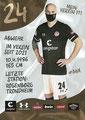 Tore Reginiussen; Rückseite Autogrammkarte: Saison 2020/21 (2. Bundesliga) Variante 2: Rückseite: Schriftzug oben rechts: Mein Verein 111