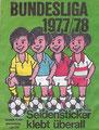 Sammelbilder-Tüte: Vorderrseite: Bundesliga 1977/78; Sammelbildervertriebs GmbH, Meißenheim und Lahr