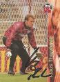 Trading Card 131 mit Orginalunterschrift: Klaus Thomforde; Bundesliga Cards '96 ran Sat 1 Fußball; Panini Bilderdienst, Nettetal, Kaldenkirchen