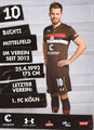 Christopher Buchtmann; Rückseite Autogrammkarte: Saison 2018/19 (2. Bundesliga)