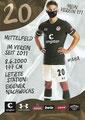 Finn Ole Becker; Rückseite Autogrammkarte: Saison 2020/21 (2. Bundesliga) Variante 2: Rückseite: Schriftzug oben rechts: Mein Verein 111