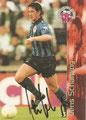 Trading Card 140 mit Orginalunterschrift: Jens Scharping; Bundesliga Cards '96 ran Sat 1 Fußball; Panini Bilderdienst, Nettetal, Kaldenkirchen