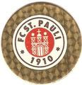 Pog 29: Glitzer Pog: FC St. Pauli Wappen (mind. 2 Gold- und 3 Silbervarianten); Pog's Serie 1-4; Schmidt Spiele