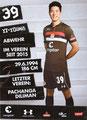 Yi-Young Park; Rückseite Autogrammkarte: Saison 2018/19 (2. Bundesliga)