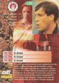 Trading Card 134: Rückseite Trading Card; Bundesliga Cards '96 ran Sat 1 Fußball; Panini Bilderdienst, Nettetal, Kaldenkirchen