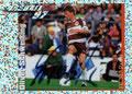 Glitzer Sticker 393 mit Orginalunterschrift: Fußball' 97; Panini Bilderdienst, Nettetal, Kaldenkirchen