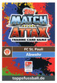 Trading Card 669: Rückseite Trading Card; Topps Match Attax Extra 2018/2019; Topps