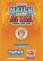 Rückseite einer Trading Card dieser Serie: Angriff; Match Attax Special; Bundesliga 2010/2011; Topps