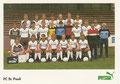 Mannschaftskarte 2: puma Werbekarte; Saison: 1984/85; Ligazugehörigkeit: 2. Bundesliga