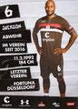 Christopher Avevor; Rückseite Autogrammkarte: Saison 2018/19 (2. Bundesliga)