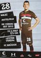 Waldemar Sobota; Rückseite Autogrammkarte: Saison 2018/19 (2. Bundesliga)