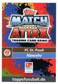 Trading Card 364: Rückseite Trading Card; Topps Match Attax 2018/2019; Topps