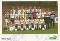 Mannschaftskarte 2 mit Orginalunterschriften: puma Werbekarte;  Saison: 1984/85; Ligazugehörigkeit: 2. Bundesliga