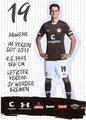 Luca Zander; Rückseite Autogrammkarte: Saison 2019/20 (2. Bundesliga)
