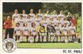 Sticker 413 links: Mannschaftsbild, Sticker 414 rechts: Mannschaftsbild; Fußball 85; Panini Bilderdienst, Tütenbilder, Planegg