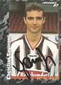 Sticker 383 mit Orginalunterschrift: Fußball' 97; Panini Bilderdienst, Nettetal, Kaldenkirchen