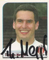 Sticker 185 mit Orginalunterschrift: Fußball Bundesliga 2002; Panini Bilderdienst, Nettetal, Kaldenkirchen