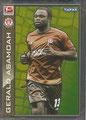 Sticker 342: Gerald Asamoah (Star Spieler); Fußball Bundesliga (Offizielle Bundesliga Sticker-Sammlung 2010/2011 Autogramm-Auflage); Topps