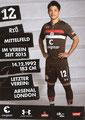 Ryo Miyaichi; Rückseite Autogrammkarte: Saison 2018/19 (2. Bundesliga)