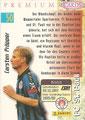 Trading Card 50: Rückseite Trading Card; Panini Premium Cards 95/96; Panini Bilderdienst, Nettetal, Kaldenkirchen