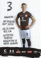 Variante 2: Leo Østigård; Rückseite Autogrammkarte: Saison 2019/20 (2. Bundesliga)