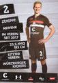 Clemens Schoppenhauer; Rückseite Autogrammkarte: Saison 2018/19 (2. Bundesliga)