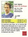 Trading Card 218: Rückseite Trading Card; Fußball 92/93 Action Cards; Panini Bilderdienst, Unterschleißheim
