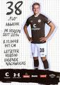 Florian Carstens; Rückseite Autogrammkarte: Saison 2019/20 (2. Bundesliga)