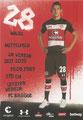 Waldemar Sobota; Rückseite Autogrammkarte: Saison 2017/18 (2. Bundesliga)