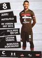 Jeremy Dudziak; Rückseite Autogrammkarte: Saison 2018/19 (2. Bundesliga)