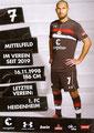 Kevin Lankford; Rückseite Autogrammkarte: Saison 2018/19 (2. Bundesliga)