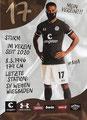Daniel-Kofi Kyereh; Rückseite Autogrammkarte: Saison 2020/21 (2. Bundesliga)