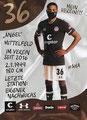 Luis Coordes; Rückseite Autogrammkarte: Saison 2020/21 (2. Bundesliga)