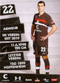 Justin Hoogma; Rückseite Autogrammkarte: Saison 2018/19 (2. Bundesliga)