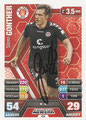 Trading Card 434 mit Orginalunterschrift: Sören Gonther; Topps Match Attax Trading Card Game 2014/2015; Topps