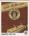 Sticker 139: Sammelheft von 1950; Sportliche Geschichte; St. Pauli Sammeln! Panini Bilderdienst, Stuttgart