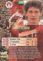 Trading Card 138: Rückseite Trading Card; Bundesliga Cards '96 ran Sat 1 Fußball; Panini Bilderdienst, Nettetal, Kaldenkirchen