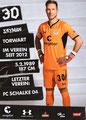 Robin Himmelmann; Rückseite Autogrammkarte: Saison 2018/19 (2. Bundesliga)