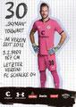 Robin Himmelmann; Rückseite Autogrammkarte: Saison 2019/20 (2. Bundesliga)